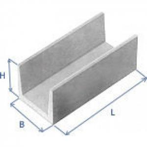 Блок фундамента Ф1п.л.-8-120 ЖБИ для дорожного строительства