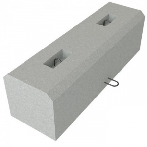 Блок упора У1 ЖБИ для дорожного строительства