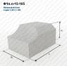 Блок фундамента Ф1п.л.-15-165 ЖБИ для дорожного строительства