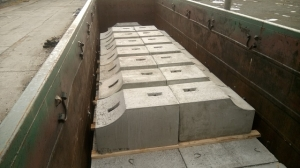 Блок фундамента Ф1п.л.-35-310 ЖБИ для дорожного строительства