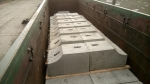 Блок фундамента Ф1п.л.-25-110 ЖБИ для дорожного строительства